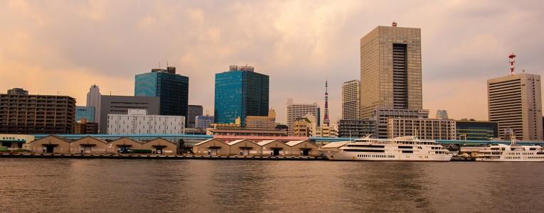 Vue sur Tokyo depuis l'Hotaluna Boat