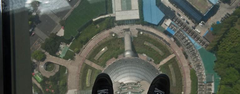 En haut de la Pearl Tower