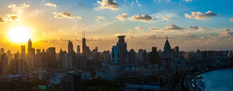 Coucher de soleil au 30e étage
