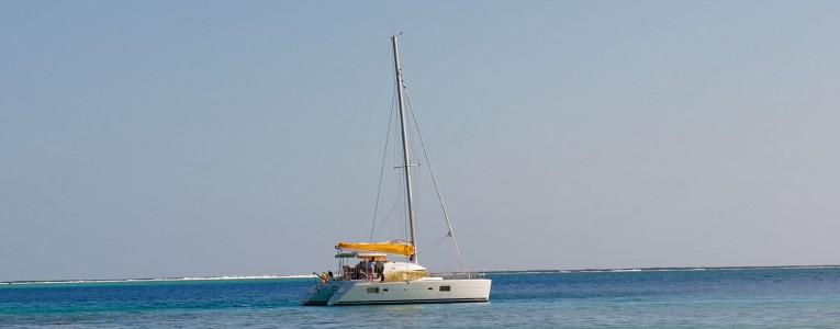 Notre catamaran en Polynésie