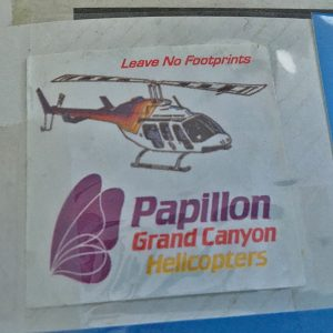 Sticker Papillon Helicopter au Grand Canyon