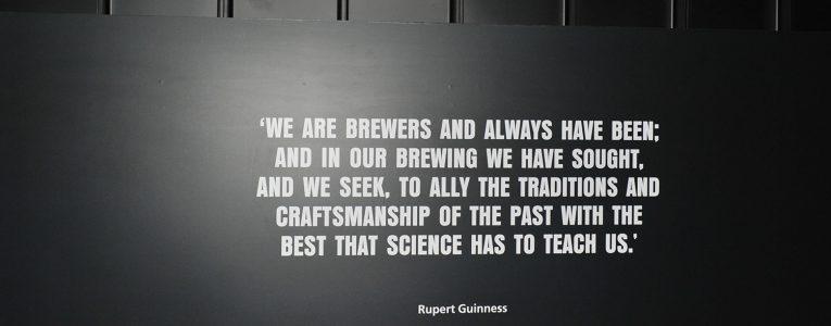 Petite citation au musée Guinness de Dublin