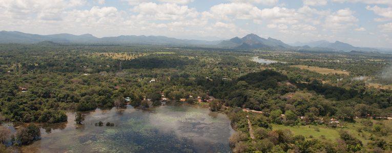 Vue depuis le sommet de Sigiriya