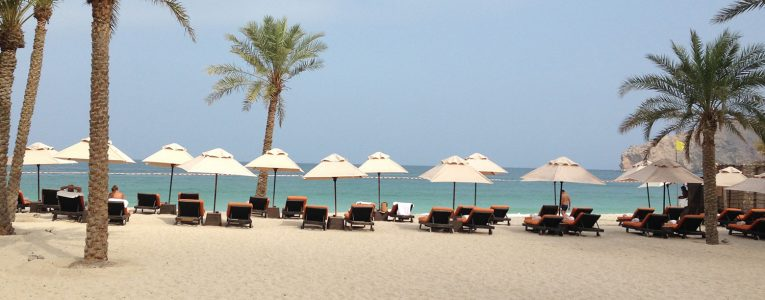 Plage du Six Senses d'Oman