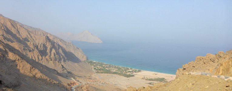Vue sur Zighy Bay à Oman