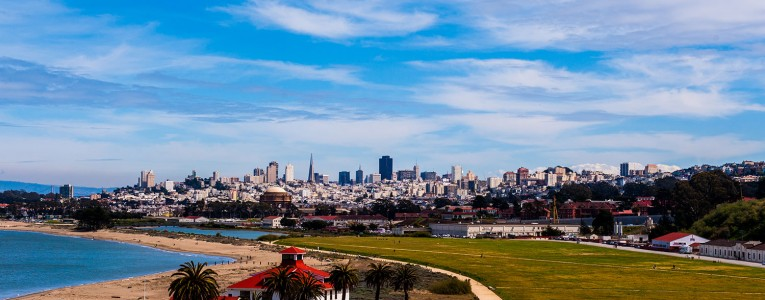 Vue de San Francisco depuis Presidio Park