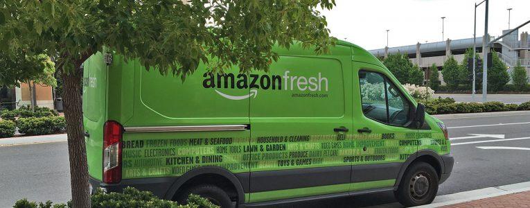 Camionnette amazon fresh