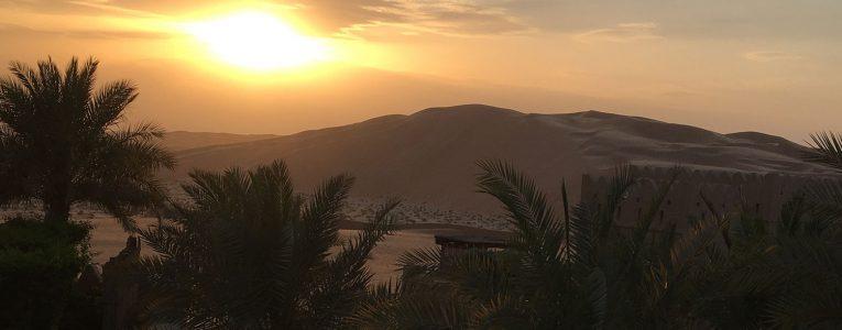Vue de la villa sur le désert
