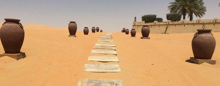 Chemin pour aller dans les dunes