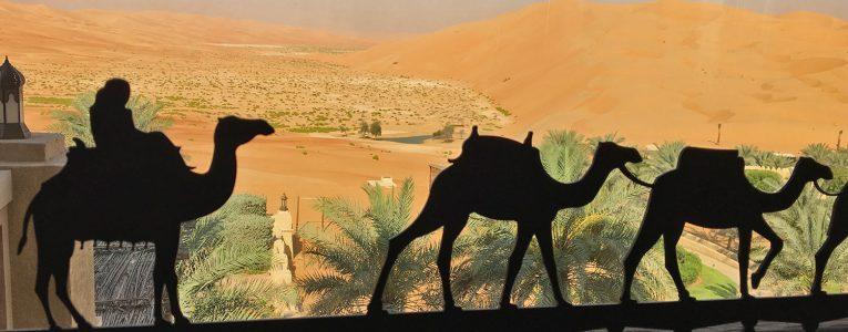 Vue du hall sur le désert