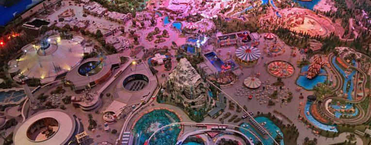 Maquette du parc Disney à Anaheim