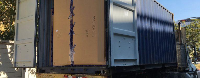 Première ouverture du container après 3 mois et demi