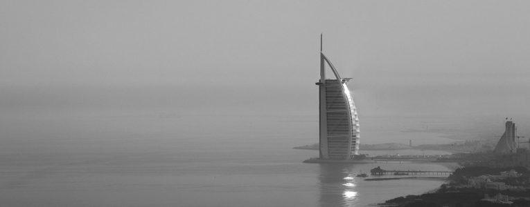Vue sur le Burj Al Arab à Dubaï
