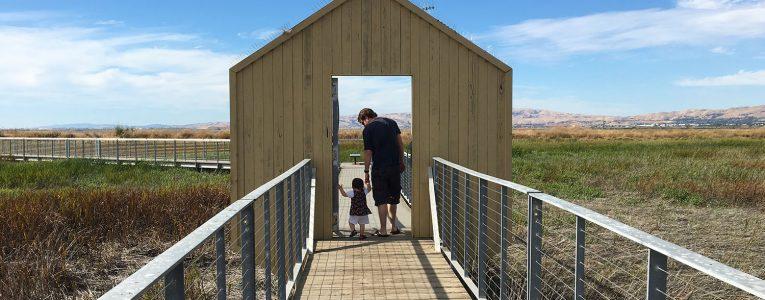Porche d'entrée du petit circuit d'Alviso park