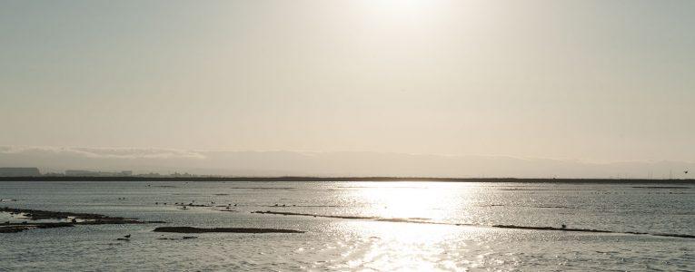 Coucher de soleil sur la mer à Alviso Parc
