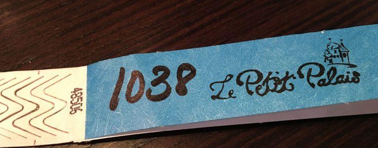 Etiquette indicative au Petit Palais