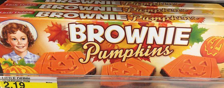 Brownies goût citrouille à Target